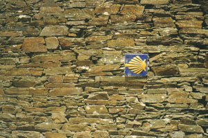 Galician wall with shell