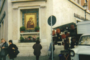 A madonna on a corner in Rome